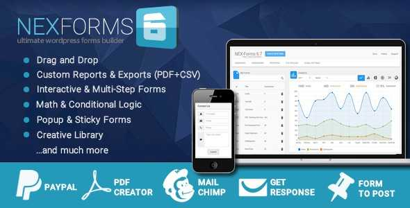 دانلود افزونه فرم ساز وردپرس Download NEX-Forms v6.7.3 افزونه پلاگین وردپرس افزونه های مدیریت محتوا