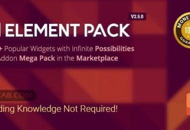 دانلود بسته افزودنی Elementor وردپرس Download Element Pack v2.5.0 افزونه پلاگین وردپرس افزونه های مدیریت محتوا