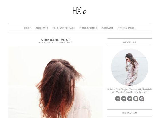 قالب سئو شده وردپرس Fixie - Minimal Wordpress Theme