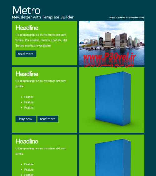 40 قالب زیبا برای خبرنامه ایمیل Email Newsletter Templates قالب HTML5 قالب های مدیریت محتوا