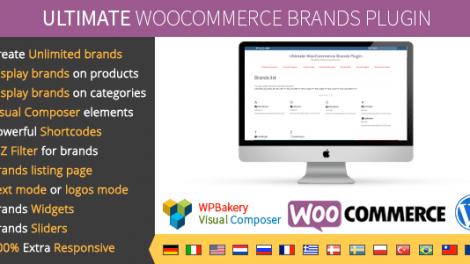 دانلود افزونه ساخت برند محصولات Ultimate WooCommerce Brands