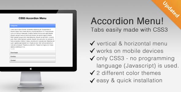 ساخت منوی های عمودی و افقی CSS3 Tabs Accordion 2