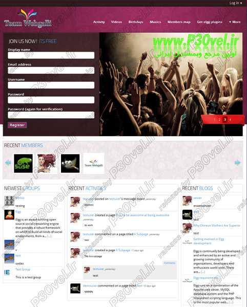 اسکریپت شبکه اجتماعی Elgg 1.8.15 Social Networking Engine  اسکریپت رایگان اسکریپت شبکه اجتماعی