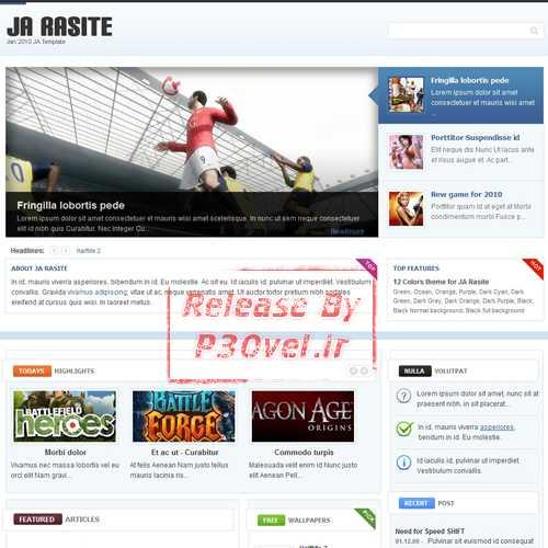 دانلود قالب جوملا حرفه ای Ja Rasite Joomlart Template قالب جوملا قالب های مدیریت محتوا