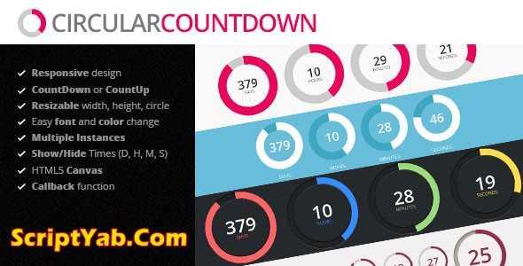 افزونه شمارنده معکوس وردپرس دایره ای Circular Countdown