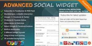 افزونه پیشرفته شبکه اجتماعی Advanced Social Widget v2.3.2 وردپرس