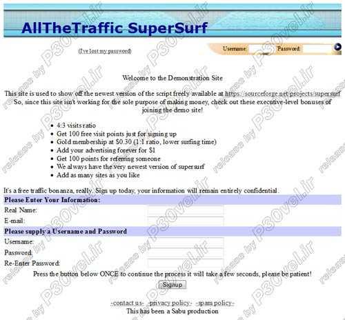 اسکریپت تبادل ترافیک AllTheTraffic Traffic Exchange Engine جدید