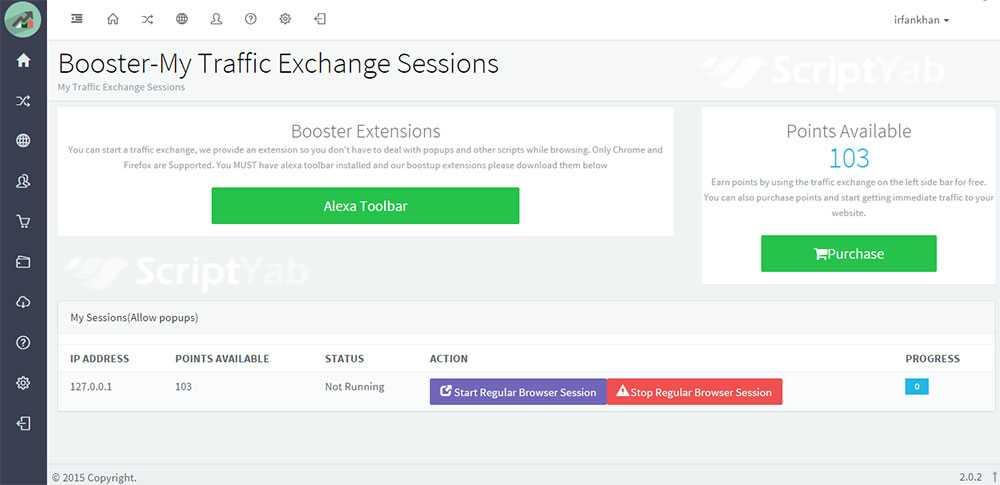 اسکریپت افزایش بازدید و تبادل ترافیک Booster Traffic Exchange System