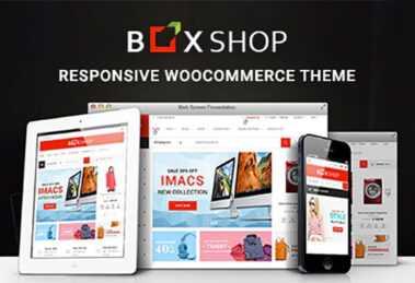 دانلود قالب فروشگاهی وردپرس BoxShop v1.3.9 - قالب ووکامرس باکس شاپ