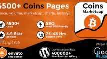 دانلود افزونه وردپرس Coins MarketCap - WordPress Cryptocurrency Plugin