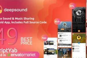 سورس اپلیکیشن موزیک DeepSound v1.4 مانند رادیو جوان برای اندروید