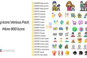 دانلود بسته مختلف آیکن های بزرگ - بیش از 800 آیکون