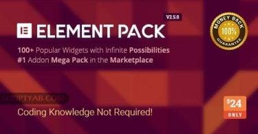 دانلود بسته افزودنی پلاگین وردپرس Download Element Pack v2.5.0