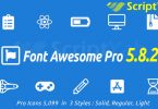 دانلود رایگان Font Awesome Pro v5.8.2