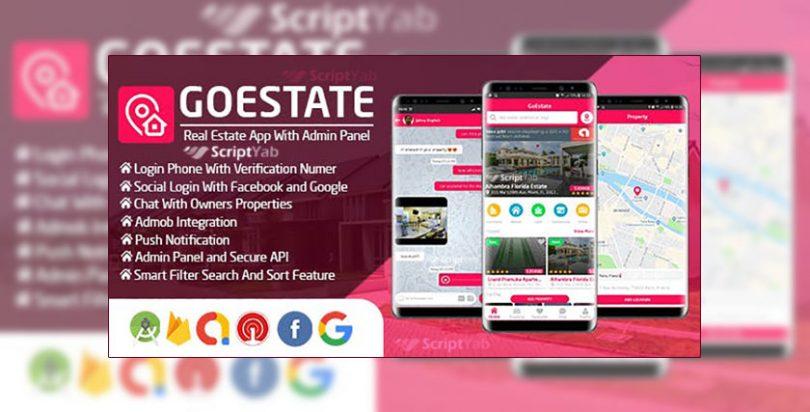 سورس اندروید مشاور املاک GoEstate بهمراه پنل مدیریت به زبان PHP