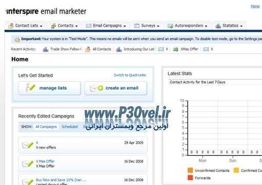 اسکریپت ارسال ایمیل گروهی Interspire Email Marketer v6.1.3 R2 Ultimate