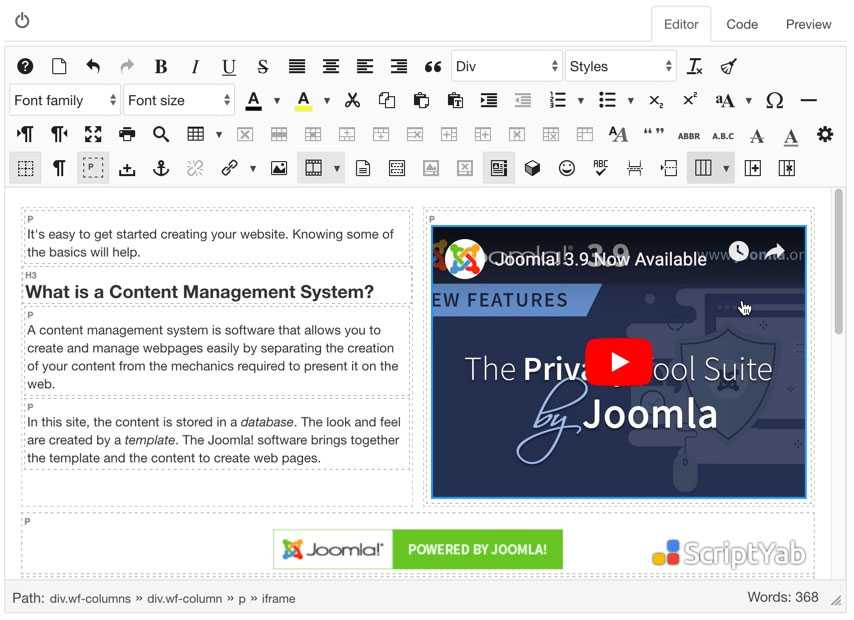 دانلود رایگانJCE Pro Content Editor v2.8.15 جوملا