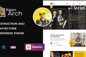 دانلود قالب معماری و ساخت ساختمان Keenarch v1.0 برای وردپرس