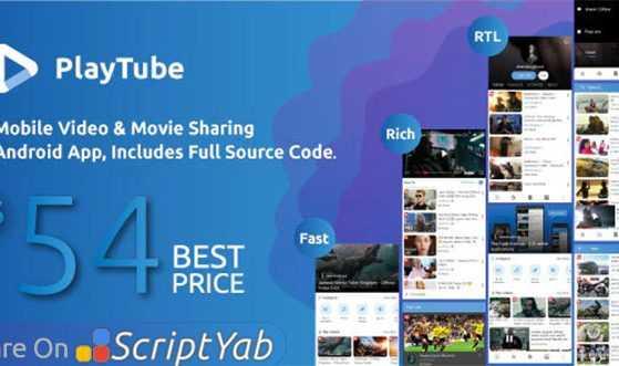 سورس اپلیکیشن اشتراک گذاری ویدیو PlayTube Mobile v2.3