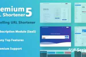 اسکریپت کوتاه کننده لینک Premium URL Shortener 5.7.2 فارسی