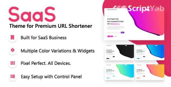 قالب SaaS کوتاه کننده لینک Premium URL Shortener