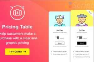 دانلود افزونه جدول قیمت وردپرس Pricing Table Plugin v2.6.1
