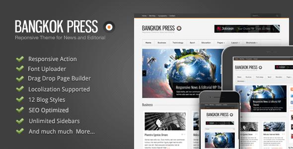 دانلود قالب وردپرس خبری Bangkok Press v1.15 WordPress Theme