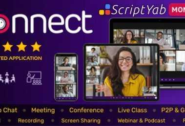 دانلود اسکریپت Connect - اسکریپت برگزاری کنفرانس و کلاس آنلاین