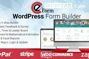 دانلود افزونه وردپرس eForm v3.7.5 Codecanyon Premium WordPress The Ultimate Form Builder Plugin