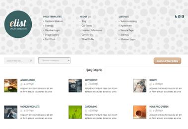دانلود پوسته دایرکتوری وردپرس eList Directory Theme