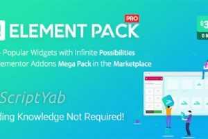 دانلود افزونه Element Pack v5.7.6 افزایش امکانات صفحه ساز Elementor