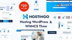 دانلود قالب هاستینگ برای WHMCS و Wordpress - قالب Hostingo