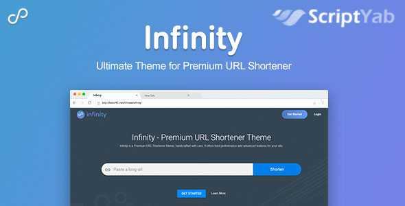 قالب Infinity کوتاه کننده لینک Premium URL Shortener