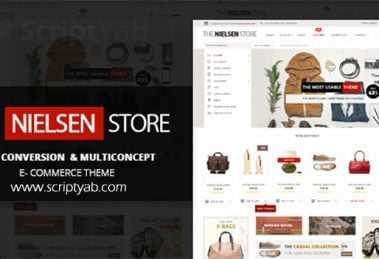 دانلود پوسته فروشگاهی وردپرس نیلسن Nielsen v1.9.4