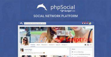 دانلود اسکریپت شبکه اجتماعی phpSocial شبیه فیس بوک