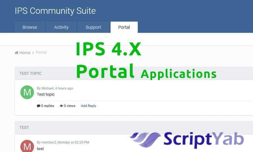 دانلود برنامه پورتال Portal 1.7.1 برای انجمنساز IPS 4.x