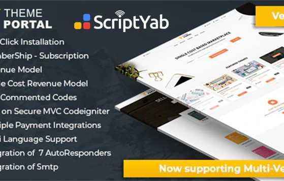 اسکریپت فروشگاه فایل Theme Portal Marketplace v4.5