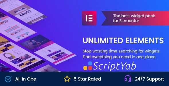 دانلود افزونه Unlimited Elements Pro - عناصر نامحدود برای المنتور