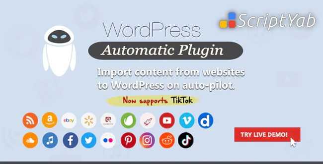 دانلود افزونه WordPress Automatic Plugin v3.51.5 وردپرس