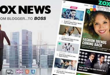 دانلود قالب خبری وردپرس Zox News